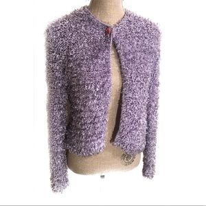 Vintage violet fuzzy 90's sweater